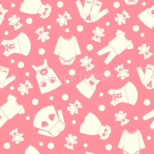 Patrón colección cute ninos moda ropa Foto stock © Margolana