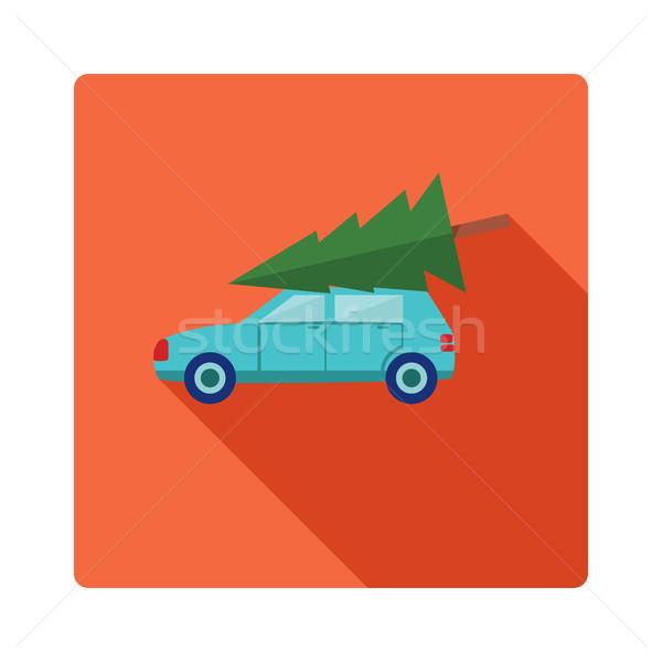 рождественская елка автомобилей икона дизайна стиль автомобиль Сток-фото © Margolana