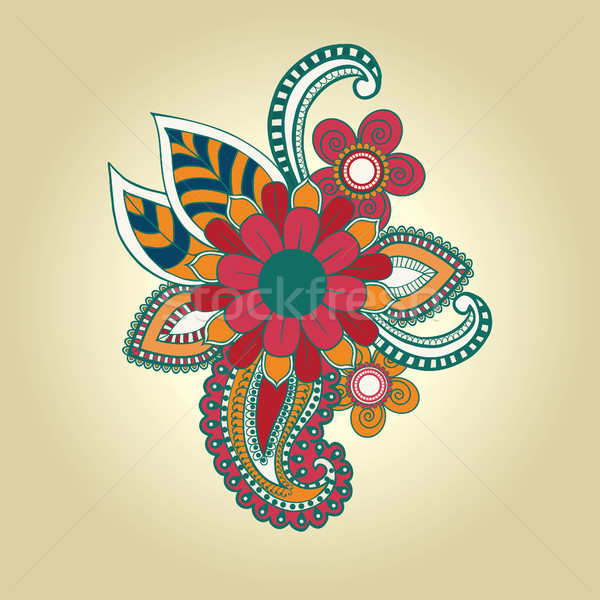 henna floral design element tattoo design ornate decorations. Stock photo © Margolana