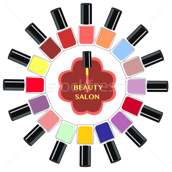 Vector Set of colorful nail polish bottles.  Stock photo © Margolana