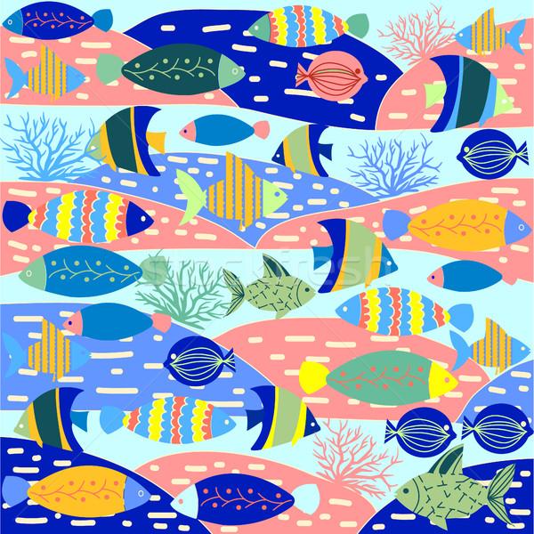 Modèle décoratif coloré cute vecteur Photo stock © Margolana