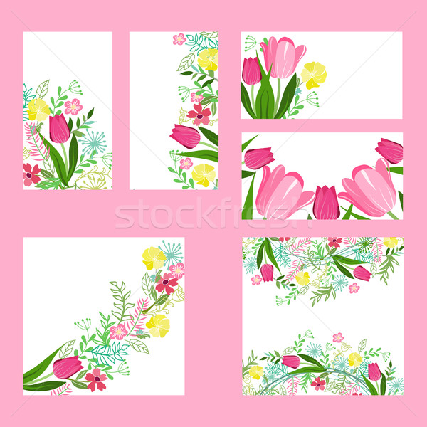 Floral  templates with cute bunches  Stock photo © Margolana