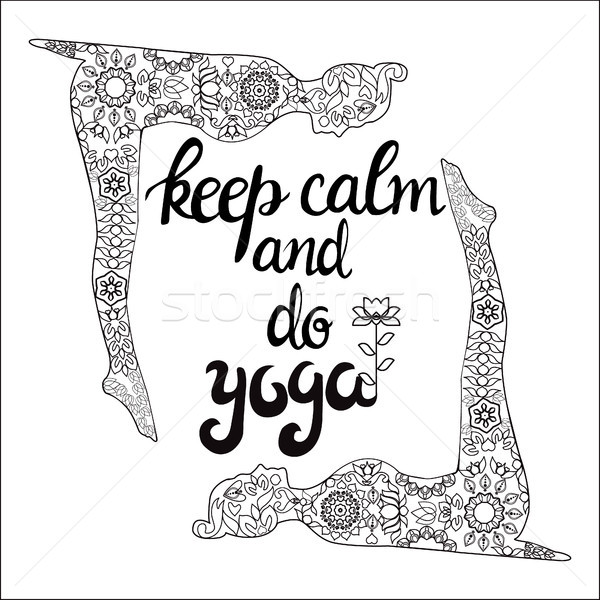 Yoga and meditation concept background with text keep calm and d Stock photo © Margolana