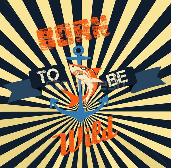 ヴィンテージ スタイル ポスター Tシャツ グラフィックス レトロな ストックフォト © Margolana