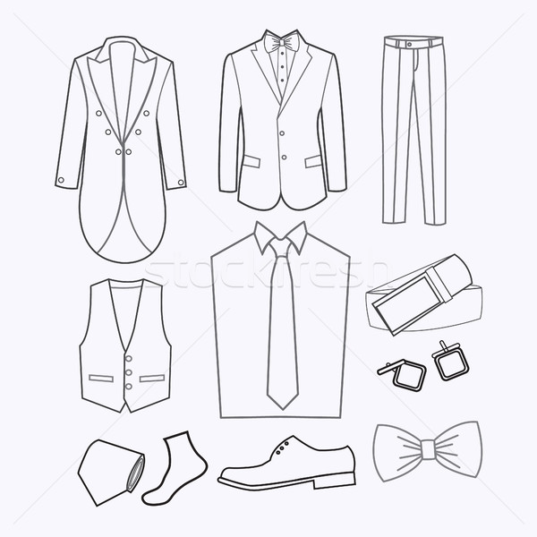 set of Fashion collection of man wardrobe.  Stock photo © Margolana