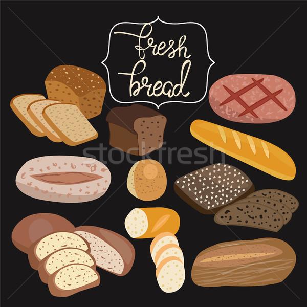 rye bread, ciabatta, wheat bread, whole grain bread, bagel, slic Stock photo © Margolana