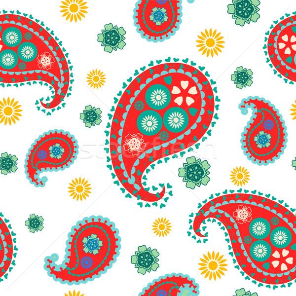 Vector flower paisley seamless pattern element Stock photo © Margolana