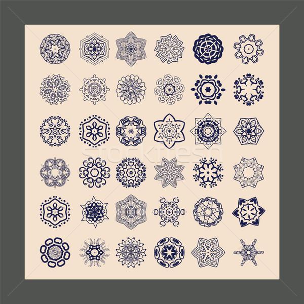 Dekoracyjny etnicznych dekoracyjny kwiatowy wzór geometryczny Zdjęcia stock © Margolana