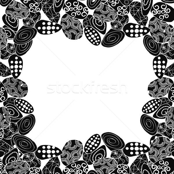 границе кадр камней копия пространства текста книжка-раскраска Сток-фото © Margolana
