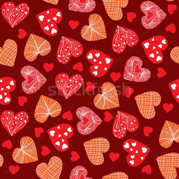 Stock fotó: Valentin · nap · terv · firka · kézzel · rajzolt · Valentin · nap · szívek