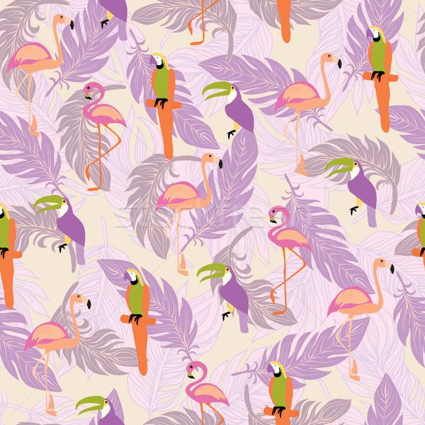 Egzotyczny tropikalnych ptaków stylu Zdjęcia stock © Margolana