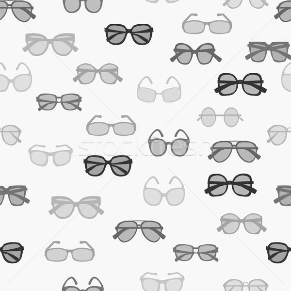 Wzór moda retro okulary wektora Zdjęcia stock © Margolana