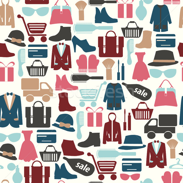 Alışveriş grup nesneler depolamak kredi kartı Stok fotoğraf © Margolana