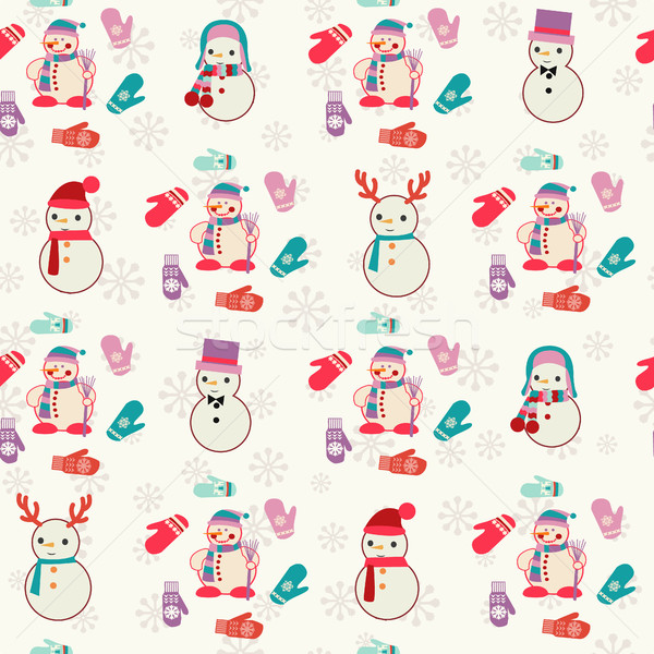 Patrón cute vector Navidad diseno Foto stock © Margolana