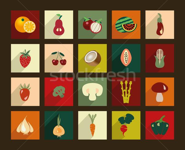 овощей плодов иллюстрация Vintage стиль Сток-фото © Margolana