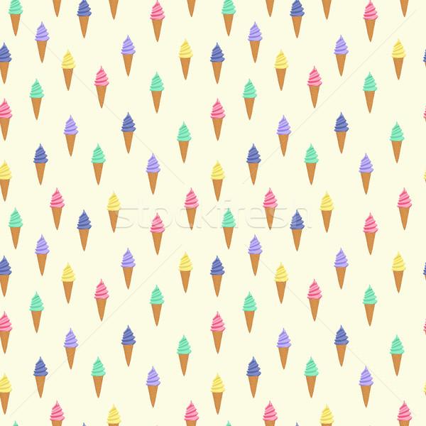 かわいい パターン アイスクリーム ワッフル コーン 異なる ストックフォト © Margolana