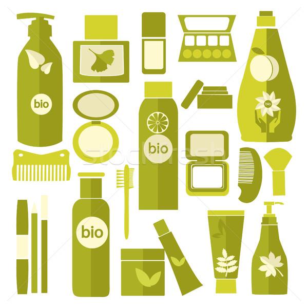Raccolta cosmetici bottiglie shampoo bagno lozione Foto d'archivio © Margolana