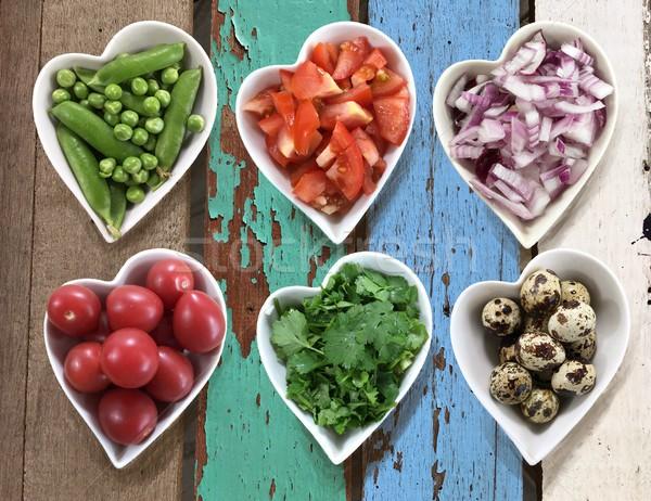 Dieta alimentare cuore set Foto d'archivio © Margolana