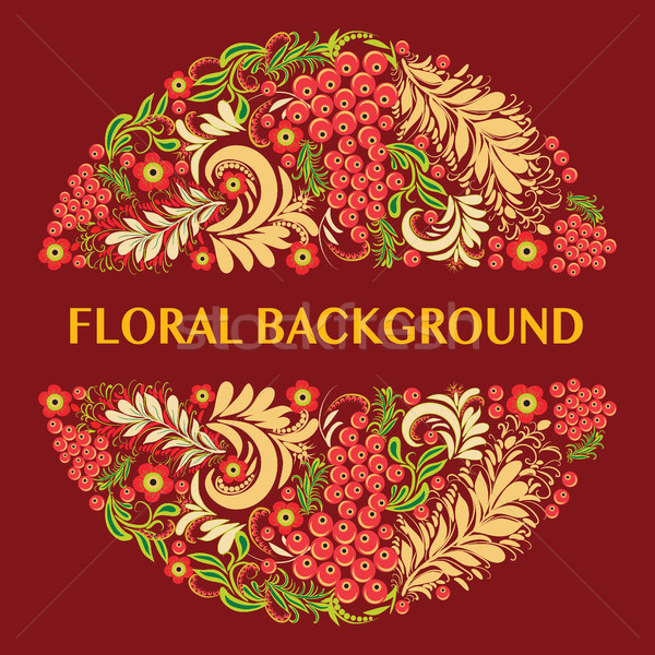 Floral background in ethnic style decorative traditional folk or Stock photo © Margolana