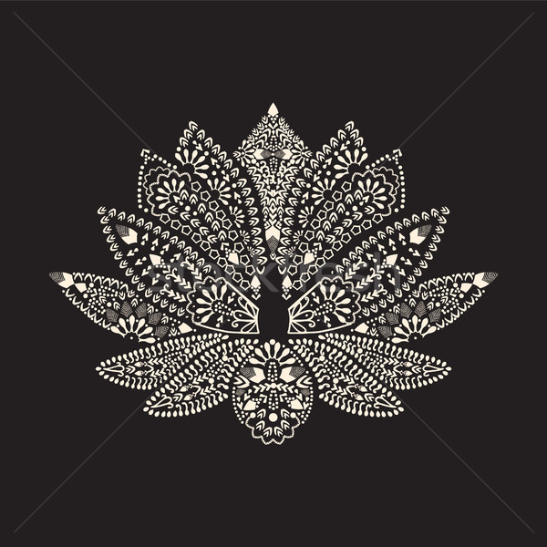 tattoo element Henna Lotus Mehndi. Stock photo © Margolana