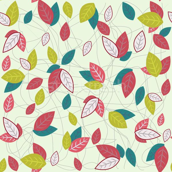 Pattern colorato foglie vettore computer Foto d'archivio © Margolana