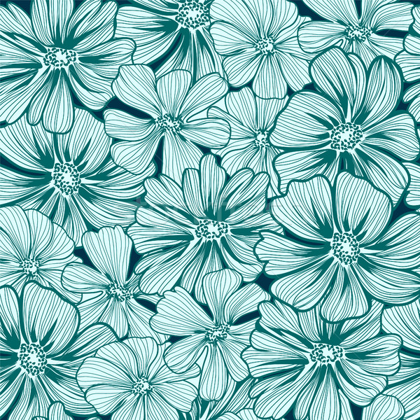 Floral seamless pattern texture with daisy flowers. Stock photo © Margolana