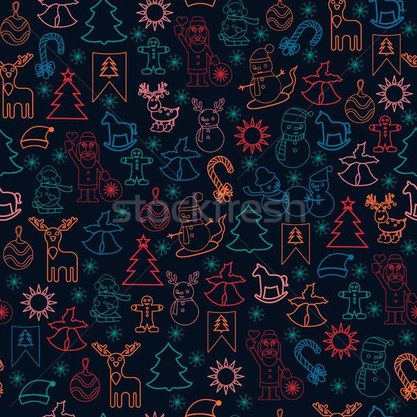 包装紙 クリスマス アイコン 陽気な ストックフォト © Margolana