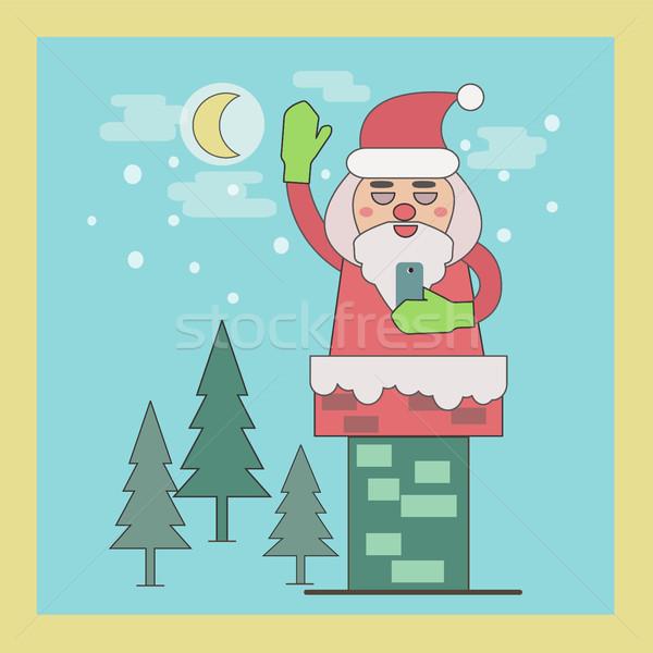 Дед Мороз дымоход линия Сток-фото © Margolana