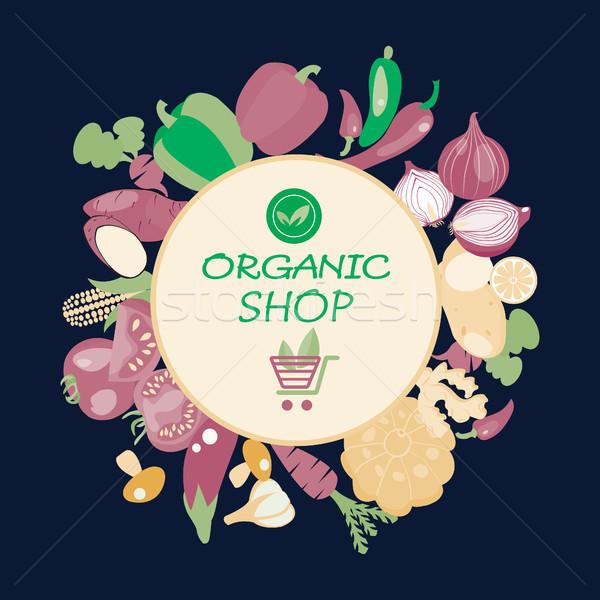 Эко здорового органический Экологически чистые продукты питания вегетарианский Сток-фото © Margolana