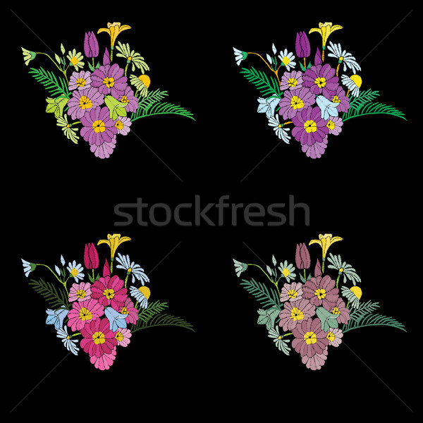 美しい 花 刺繍 デザイン 要素 首 ストックフォト © Margolana