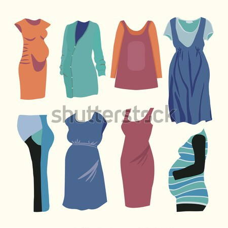 Fashion collection of spring and Autumn woman wardrobe  Stock photo © Margolana