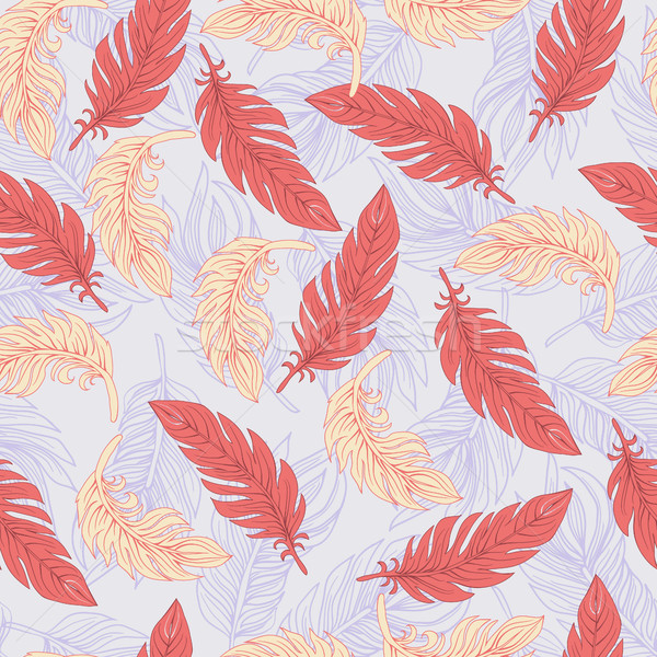 Ethnic seamless pattern with Feathers pattern  Stock photo © Margolana
