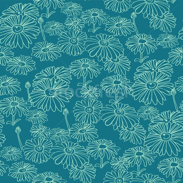 рисованной цветы вектора цветочный Сток-фото © Margolana
