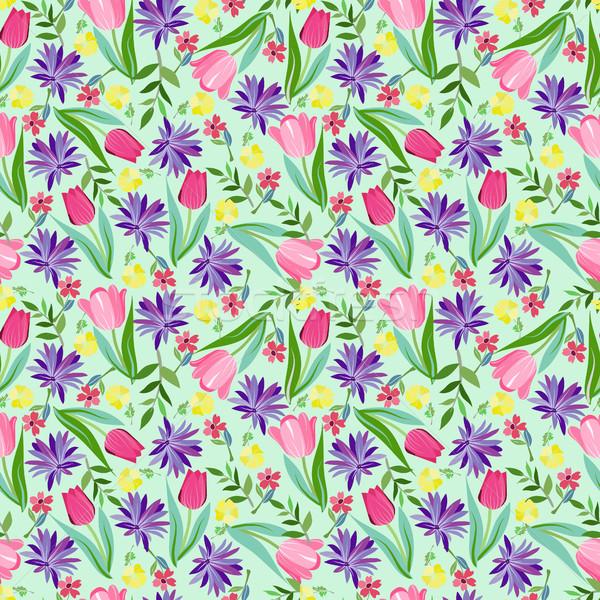 лет моде вектора цветочный текстуры Сток-фото © Margolana