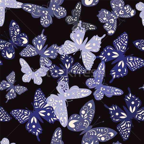 Model toplama kelebekler vektör dekoratif sevimli Stok fotoğraf © Margolana