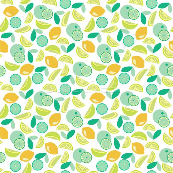 pattern with Lime, lemon and orange slices Stock photo © Margolana