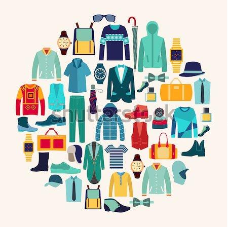 Ropa moda establecer mujer Foto stock © Margolana