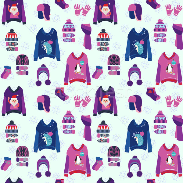 Christmas background with cute ugly  sweaters Stock photo © Margolana