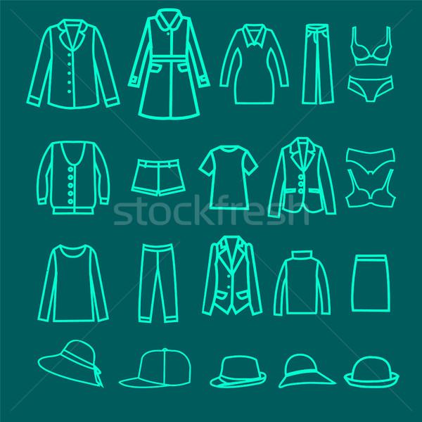 Fashion  clothes collection woman cloth and accessoreis Stock photo © Margolana