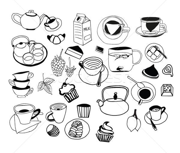コレクション 手描き 茶 カップ その他 ストックフォト © Margolana