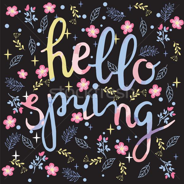 весенние цветы привет весны текста весна Сток-фото © Margolana