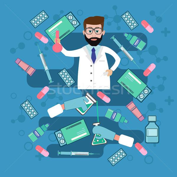 Diverso medici pillole bottiglie sanitaria shopping Foto d'archivio © Margolana