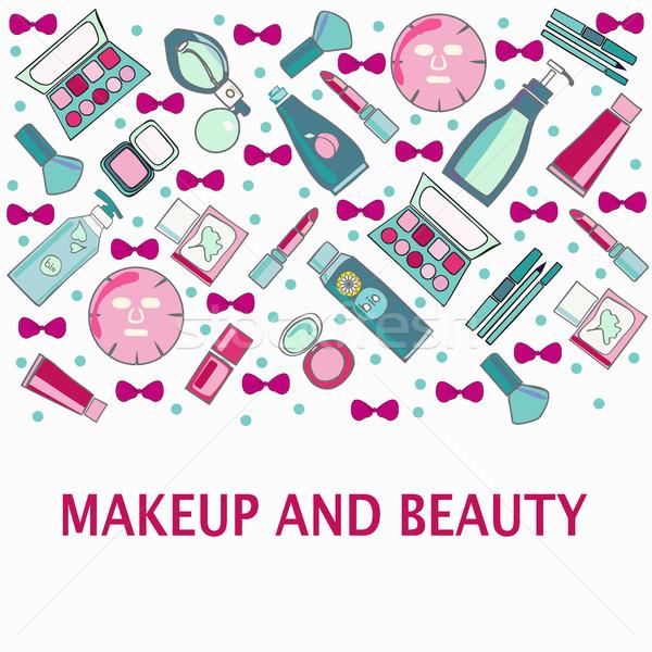 Makyaj güzellik kozmetik ürün model Stok fotoğraf © Margolana