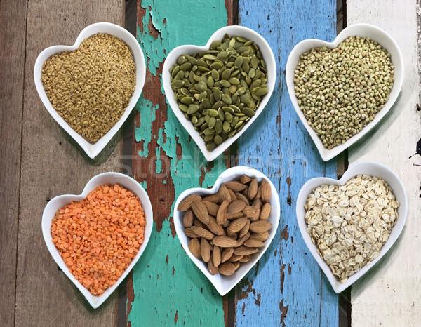 Cereales alimentos corazón bolos establecer Foto stock © Margolana