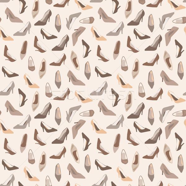Seamless pattern with  ladies shoes Stock photo © Margolana