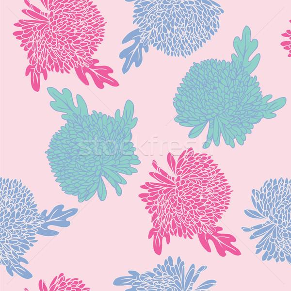 パターン 手描き 花 フローラル 花 ストックフォト © Margolana