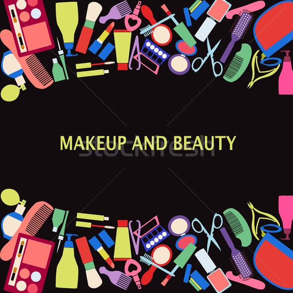 вектора макияж красоту косметических кадр Сток-фото © Margolana