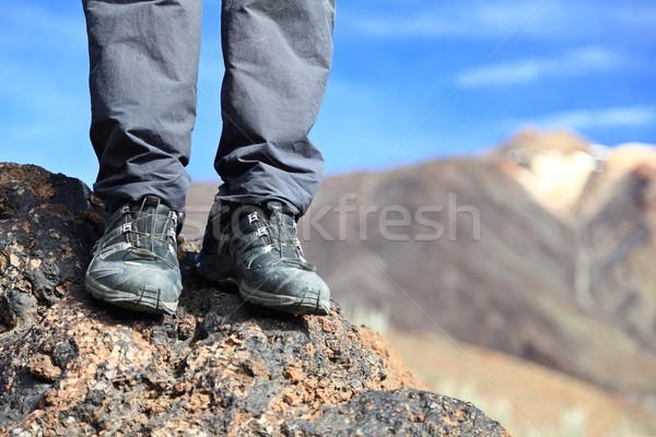 Turystyka buty buty górskich charakter krajobraz Zdjęcia stock © Maridav