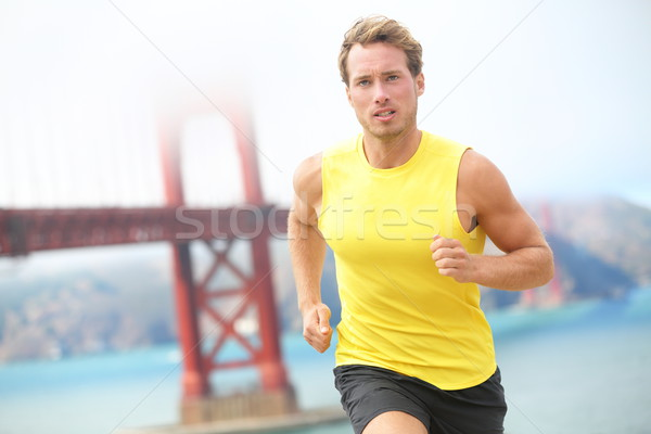 Running in San Francisco Stock photo © Maridav