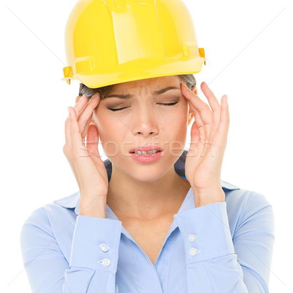 Engineer or architect woman worker headache stress Stock photo © Maridav